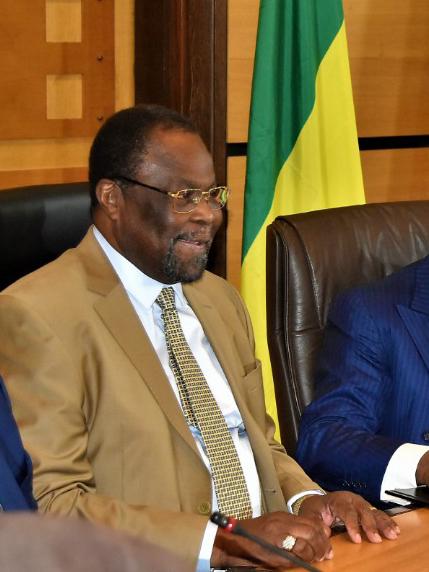 Le président de la COSUMAF, Nagoum Yamassoum. © COSUMAF