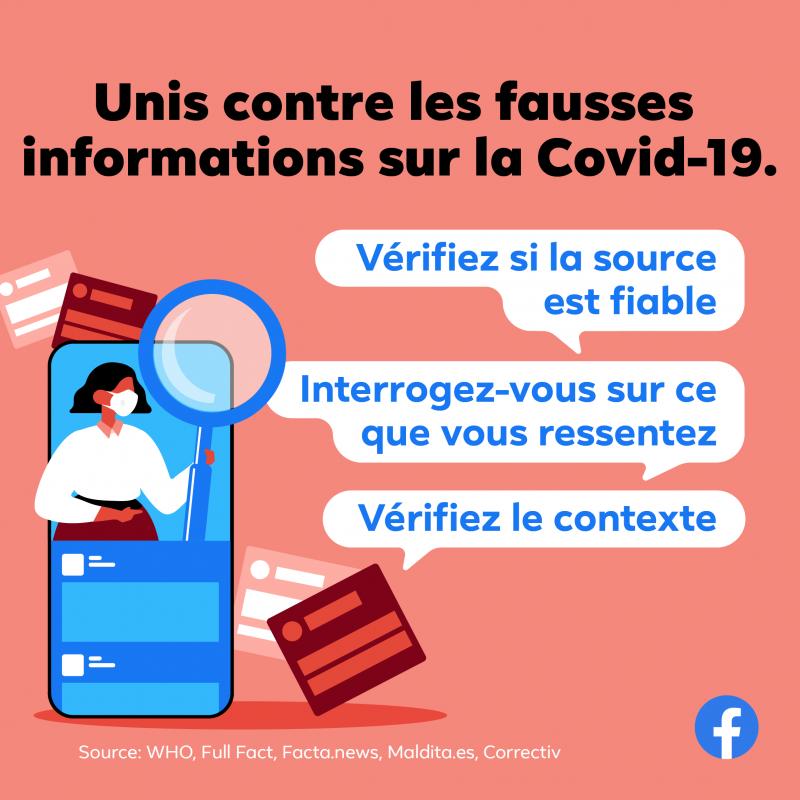 Fausses informations sur la COVID-19 : Facebook lance une campagne à travers l'Afrique