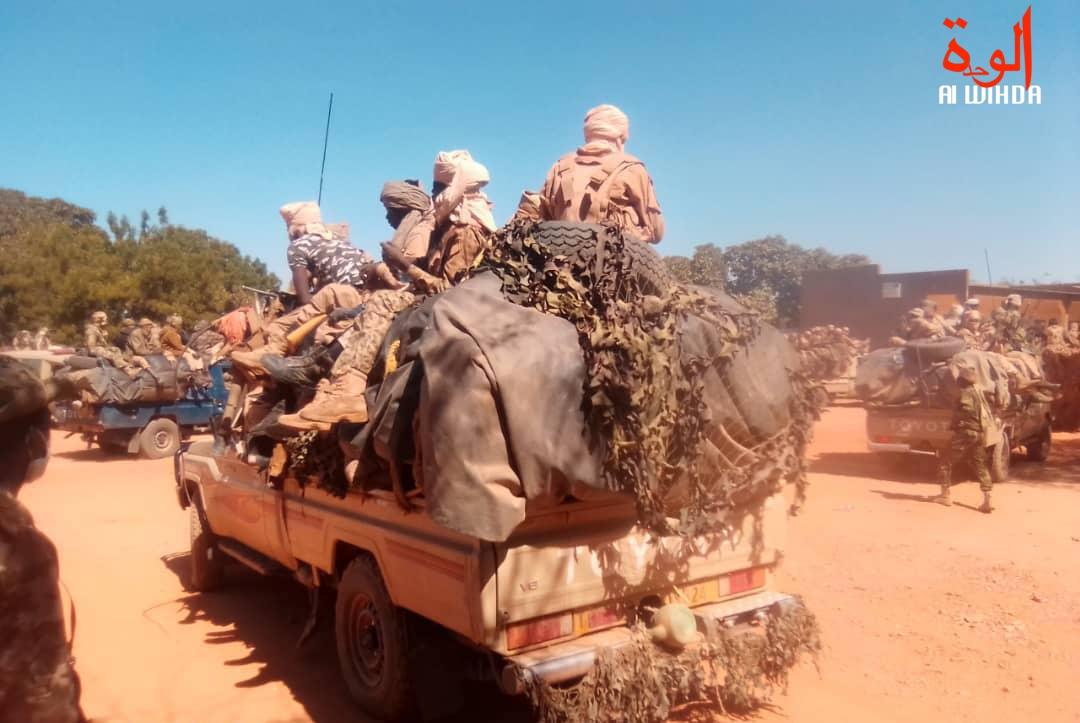 Des soldats tchadiens au Nord-Est du Tchad. Illustration © M.I.G./Alwihda Info