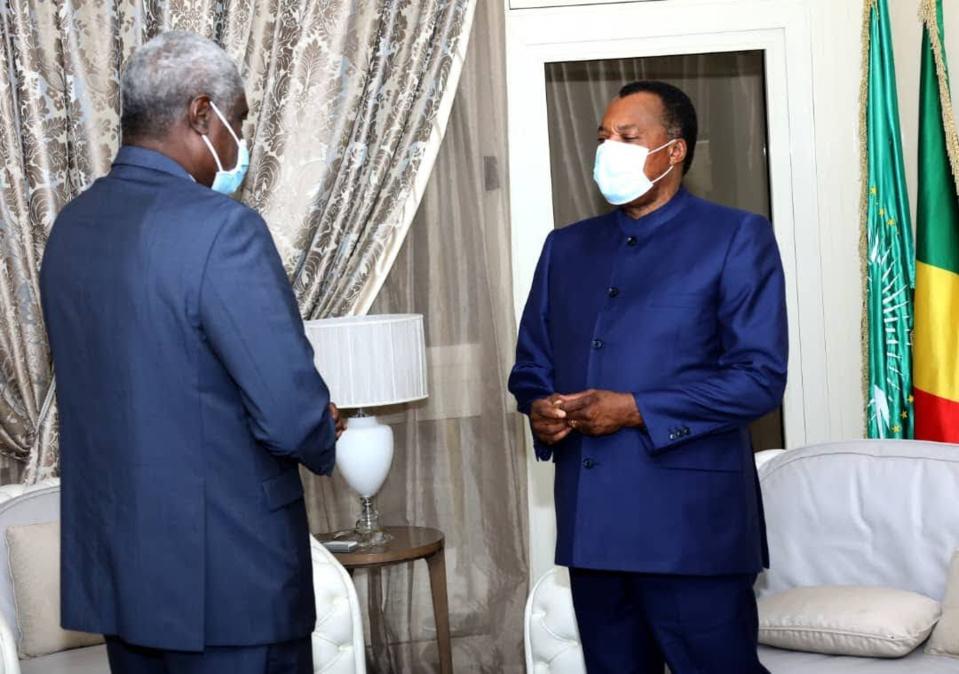 Denis Sassou et Moussa Faki échangent sur la situation au Tchad
