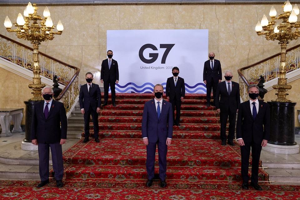 Réunion des ministres des affaires étrangères et du développement du G7 à Londres, du 3 au 5 mai 2021.