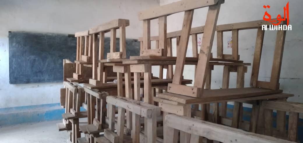 Une salle de classe à N'Djamena. Illustration © B.K./Alwihda Info