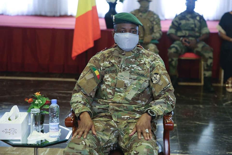 Le président de la transition malienne, le colonel Assimi Goïta. © Palais Koulouba