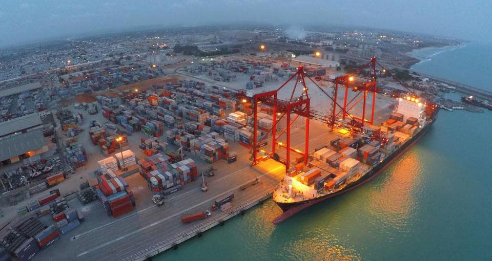 Le port de Lomé. Illustration © DR/bollore-ports.com