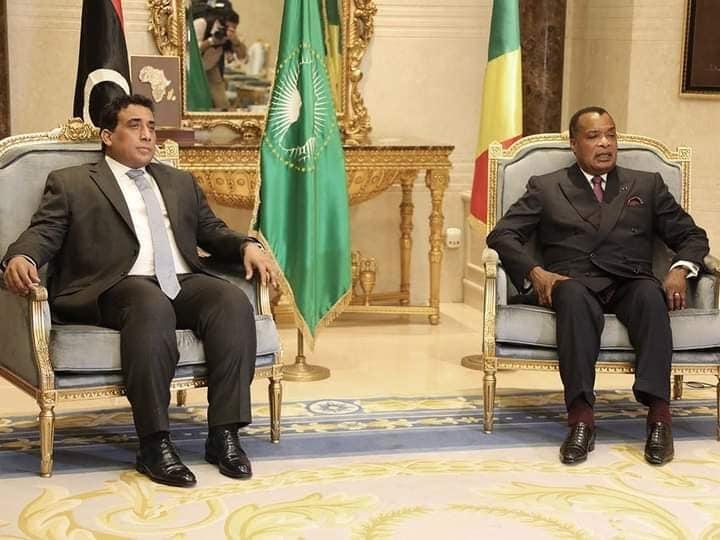 Denis Sassou N'Guesso et Mohamed el-Menfi.