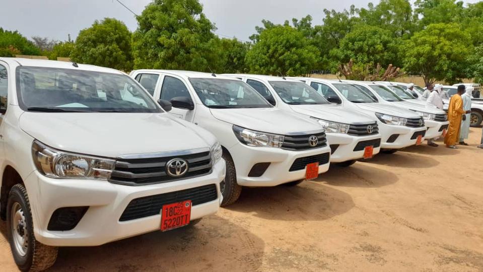 Tchad : sept véhicules remis aux districts sanitaires du Batha