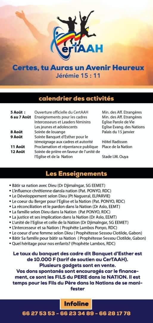"""Tchad : les Chantres unis lancent des initiatives pour """"rendre le pays habitable"""""""