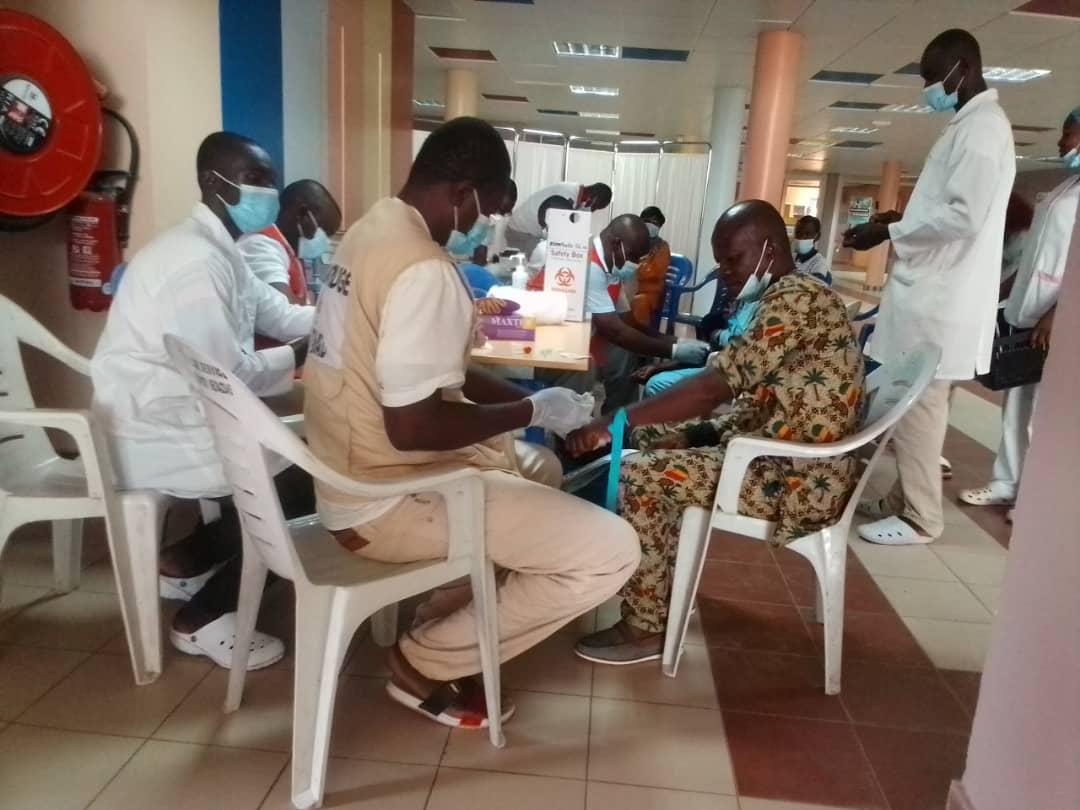 Tchad : campagne de dépistage des hépatites au CHU la Renaissance de N'Djamena. ©Steve Djénonkar/Alwihda Info