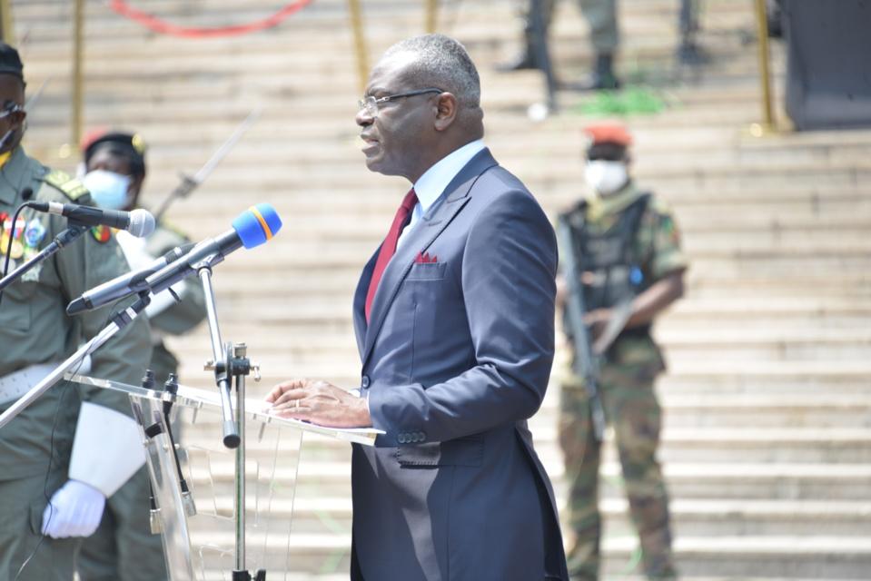 Le premier ministre, Collinet Makosso, au cours de son évocation