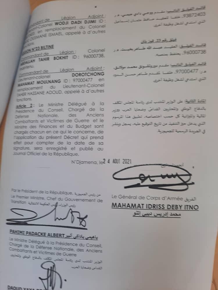 Tchad : 44 nominations à la gendarmerie nationale