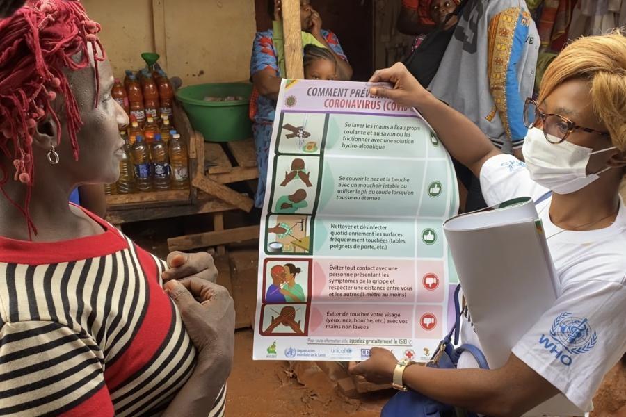 Campagne contre le COVID-19 au Cameroun. ©Nations Unies