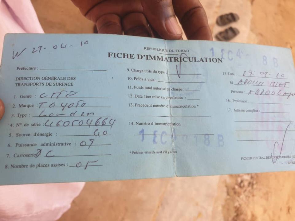 N'Djamena : un véhicule volé aux abords du stade de Diguel, le propriétaire faisait du sport