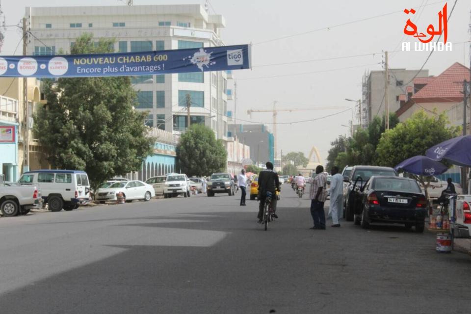 L'avenue Charles De Gaulle à N'Djamena. Illustration © Alwihda Info