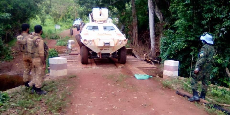 Un blindé de la force onusienne en Centrafrique. Illustration ©MINUSCA