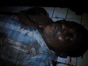 Le corps du magistrat, Modeste Bria, abattu hier par des hommes de l'ex-Séléka.