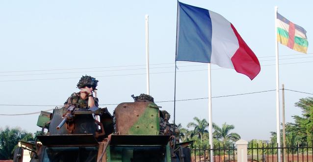 Des soldats français à Bangui. Crédit photo : Reuters