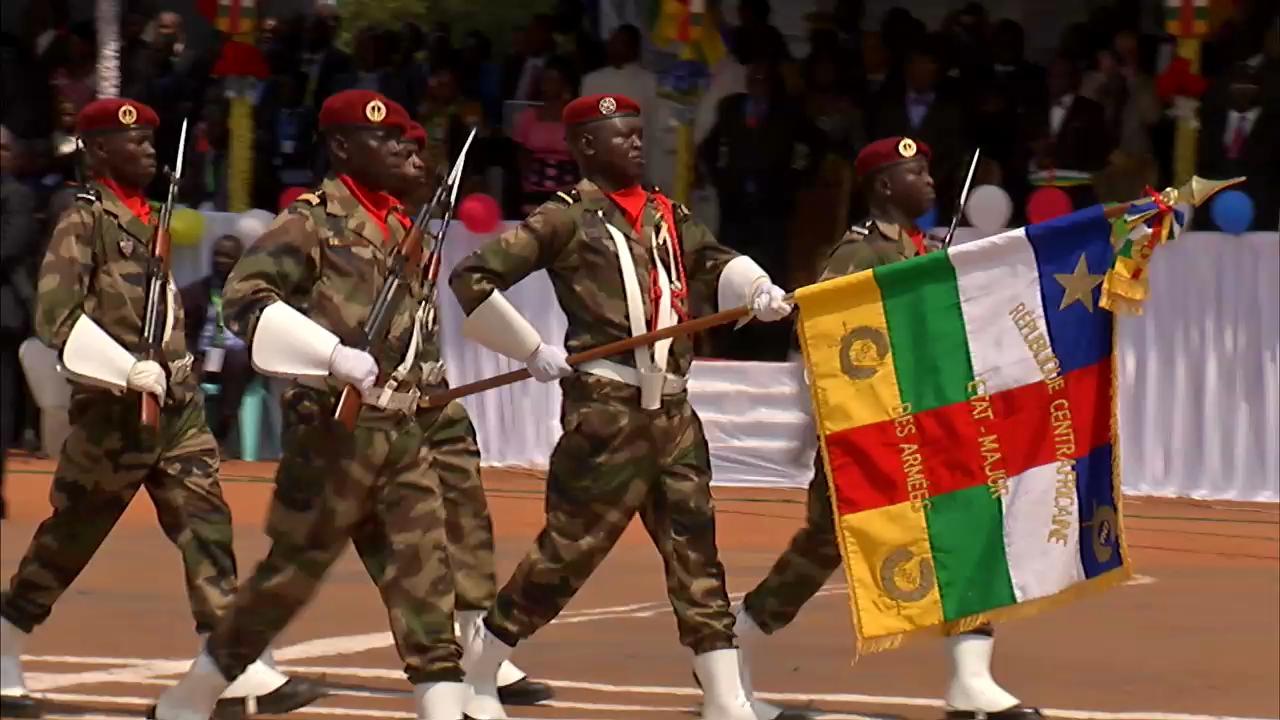 Des soldats centrafricains lors d'un défilé à Bangui. Crédit photo : Sources