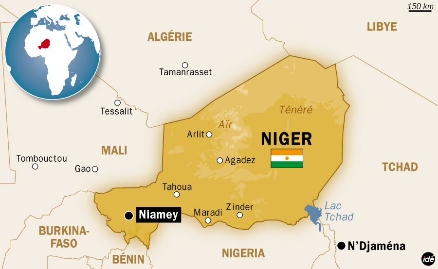 Carte du Niger. Crédit photo : Sources