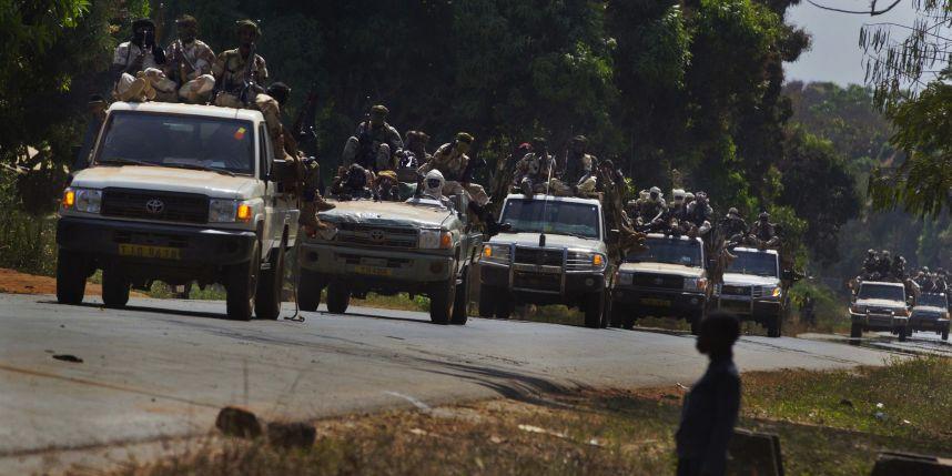 Les rebelles de la Séléka lors de leur entrée dans la capitale Bangui. Crédit photo : Sources
