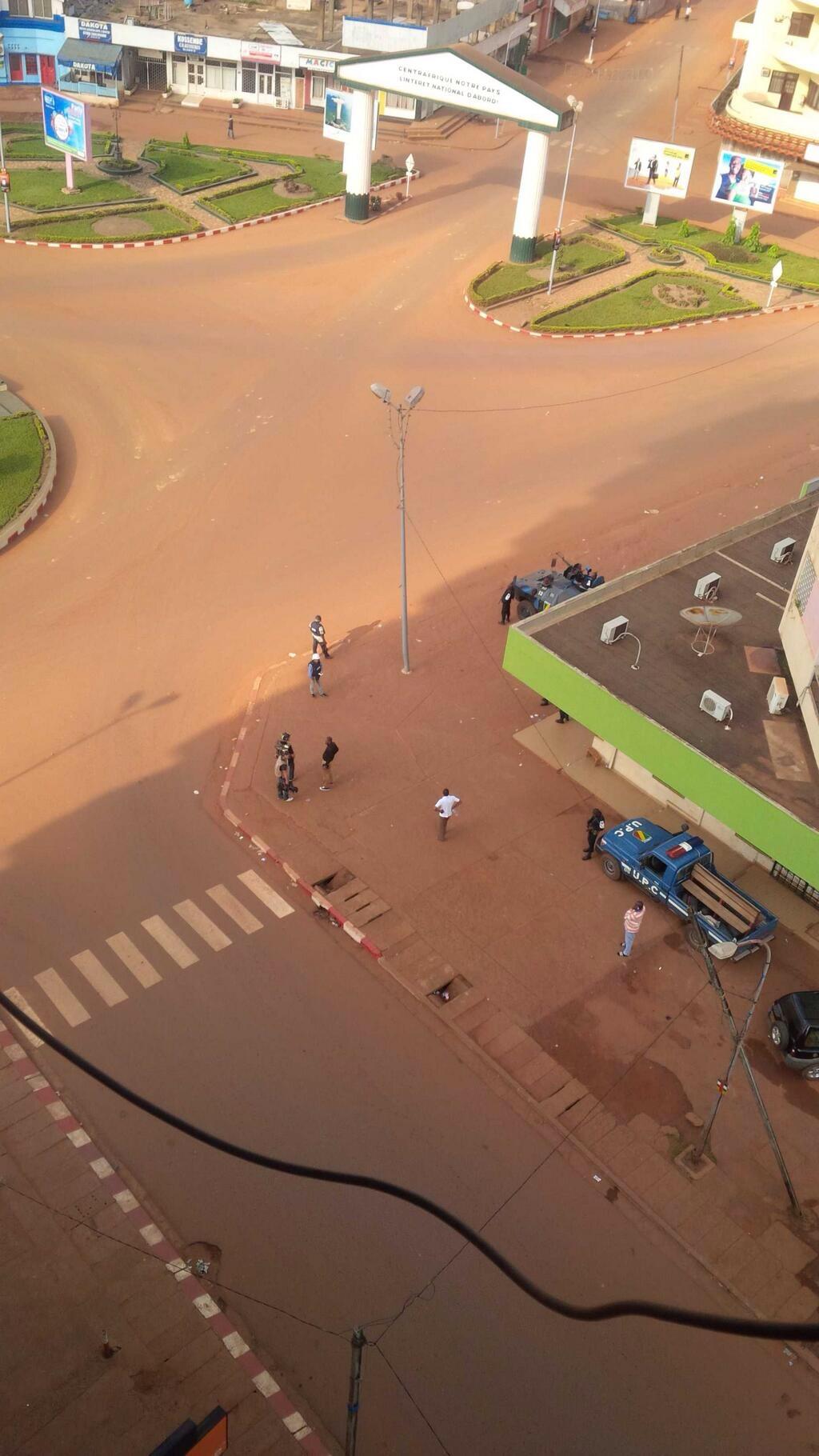 Les rues de Bangui vides. Crédit photo : @NKG_56