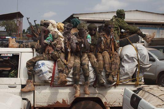 Des soldats tchadiens de la Force multinationale d'Afrique centrale, la Fomac, à Bangui, le 24 novembre. | JOE PENNEY/Reuters