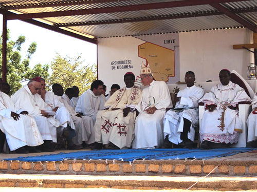Des évêques à Mongo, au Tchad. Crédit photo : jesuites.com