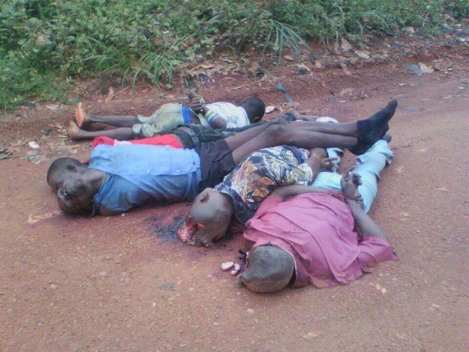 Trois enfants exécutés, les mains ligotés en Centrafrique. Crédit photo : Sources