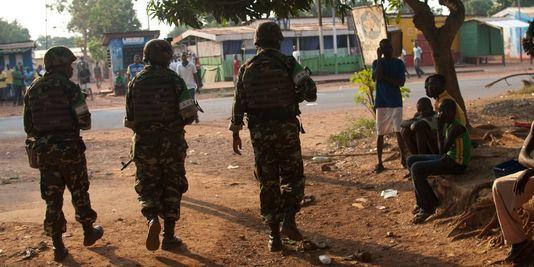 Des soldats de la MISCA en Centrafrique. Crédit photo : AP/Rebecca Blackwell