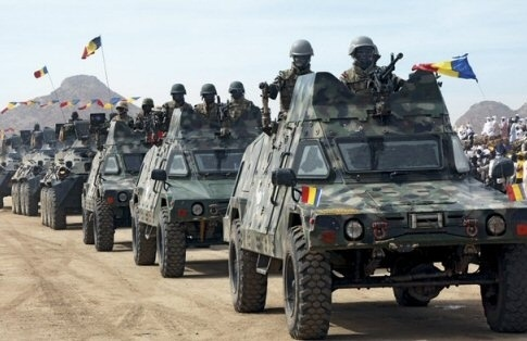 Un convoi de l'armé tchadienne. Crédit photo : Sources