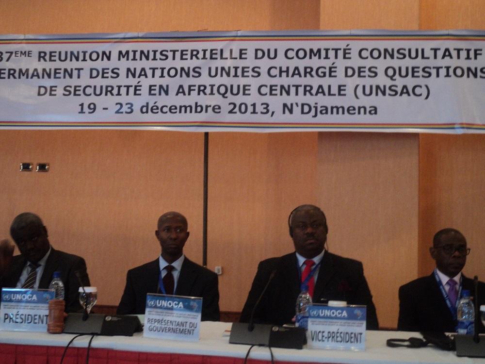 La réunion ministérielle du Comité Consultatif Permanent des Nations unies chargé de sécurité en Afrique Centrale qui se déroule actuellement à N'djamena. MR/Alwihda