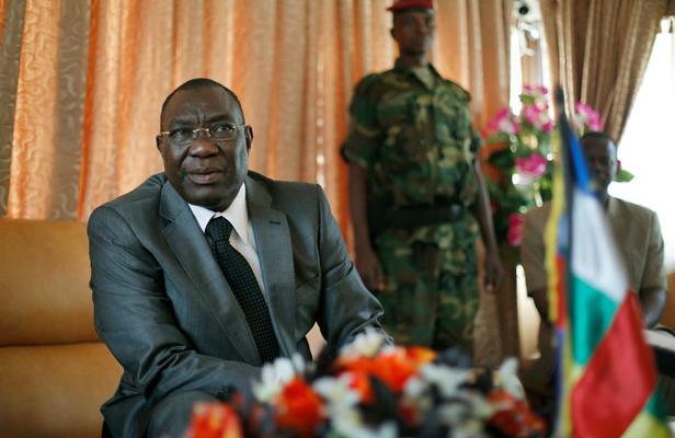 Michel Djotodia, lors d'une conférence à Bangui (centrafrique), le 8 décembre 2013.  AP/SIPA