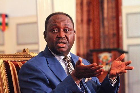 L'ex-Président centrafricain, François Bozizé lors d'une conférence. Crédit photo :