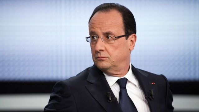 François Hollande sur le plateau de France 2 le 28 mars 2013 - photo Afp - Fred Dufour