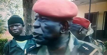 Un officier chrétien de l'ex-Séléka, à Bangui. Crédit photo : Al Jazeera