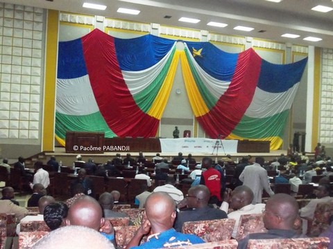 Le Conseil National de Transition en Centrafrique. Photo : Pacôme Pabandji