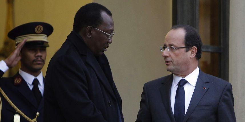 Idriss Deby en visite à l'Elysée, le 5 décembre dernier. Photo : Sipa