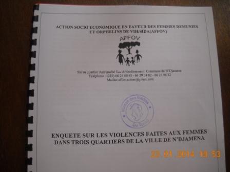 Tchad : L'Association AFFOV fait une révélation accablante sur la Violence faites aux femmes © Alwihda Info/MR