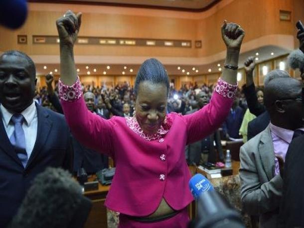 La nouvelle Présidente de la Transition en Centrafrique, Catherine Samba-Panza. Crédit photo : Sources