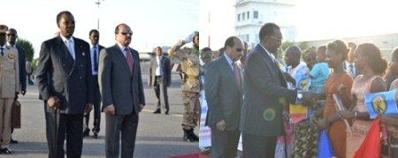 Idriss Deby en visite en Mauritanie le 28 novembre 2013. Crédit photo : journaldutchad
