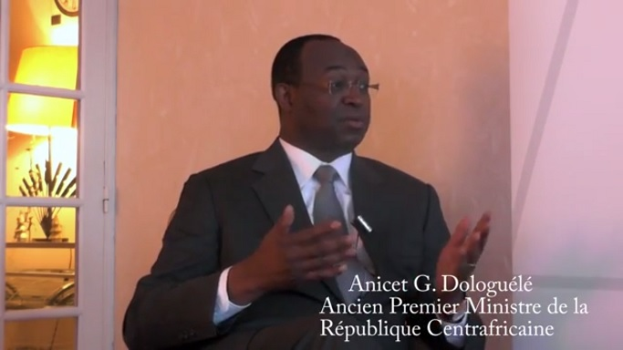 Anicet G. Dologuélé, l'ancien Premier Ministre de la République Centrafricaine.