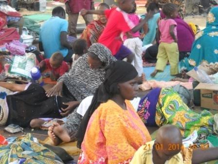 Des rapatriés de Centrafrique dans un centre social de N'Djamena. Alwihda Info/M.R.