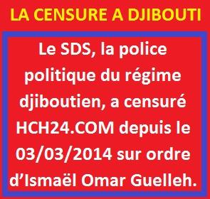 Djibouti : Le dictateur Ismaël Omar Guelleh de Djibouti a censuré le site web d'actualité HCH24.com