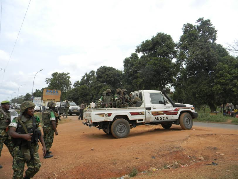 Un véhicule de la MISCA. Photo : Sources