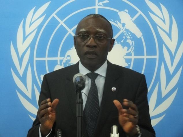 Le représentant spécial du Secrétaire Général des Nations Unies en Centrafrique, Général Babacar Guèye. Photo : Sources
