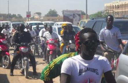La circulation à N'Djamena. Alwihda Info/M.R.
