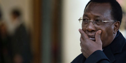 Le président tchadien Idriss Déby à Paris, le 2 décembre 2012. | AFP/MARTIN BUREAU