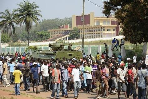 Un rassemblement à Bangui. AFP