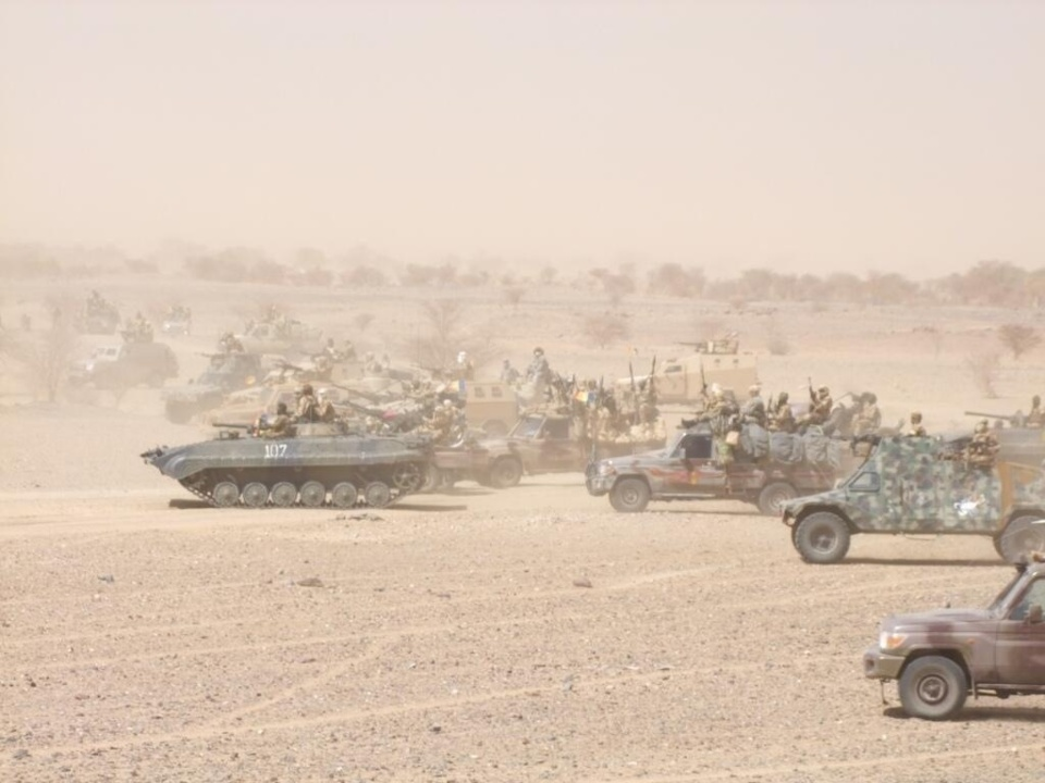 Des manœuvres de soldats tchadiens dans le Nord-Mali. Crédits photos : Abdelnasser Gorboa
