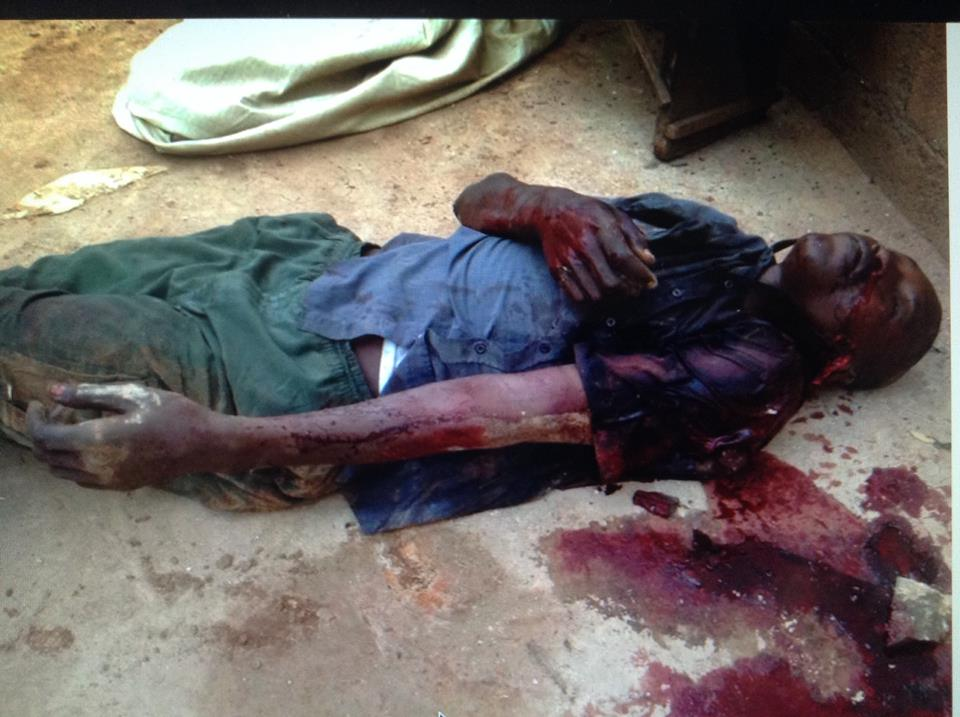 Abdoul Rahaman, un civil musulman abattu par des soldats français qui ripostaient à des tirs.