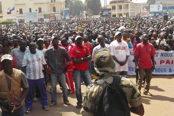 Une manifestation à Bangui. AFP